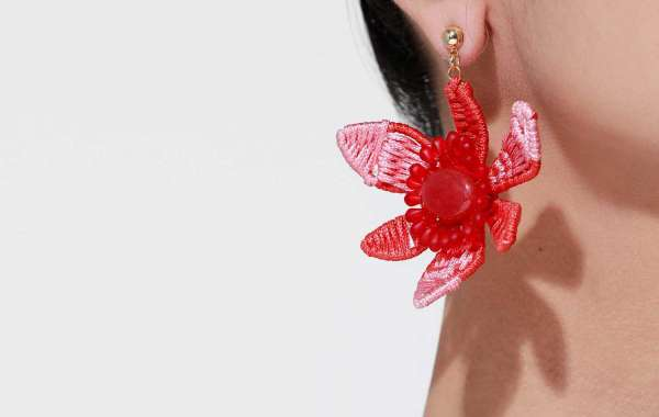 Over Sized Asymmetrical Floral Earrings