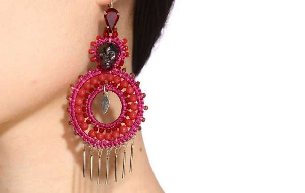 Handcrafted Earrings with Cup Chain Tassels
