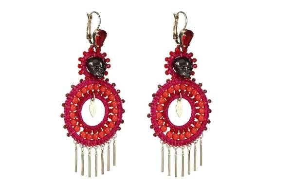 Hand Woven Flower Earrings