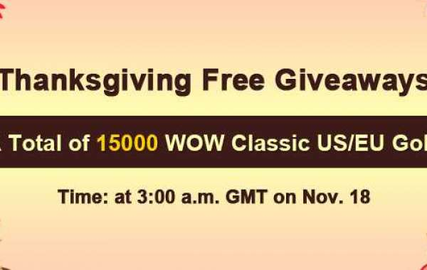Free 15000 wow classic gold seller review as 2020 Thanksgiving Free Giveaways