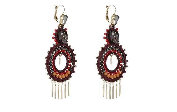Sea Star Earrings Cords Woven