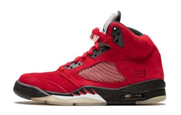 """Brand New Air Jordan 5 """"Raging Bull"""" Varsity Red/Black-White Sale DD0587-600"""