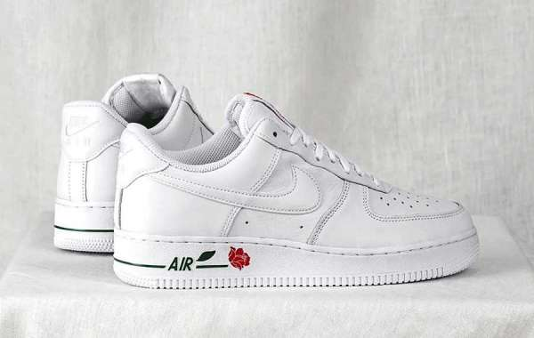 """Nike Air Force 1 Low """"White Rose"""" 2021 New Arrival CU6312-100"""