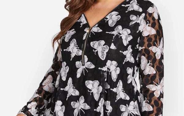 V-Neck Floral Print Criss-Cross Short Sleeve Flounced Hem Plus Size Tops