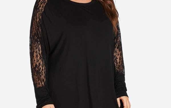 V-Neck Plain Lace-Up Self-Tie 3/4 Sleeve Burgundy Plus Size Dress